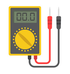Digital multimeter flat icon build and repair vector