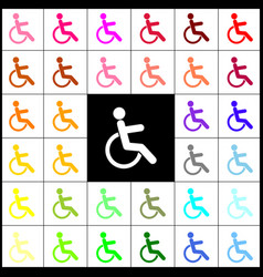 Disabled sign felt-pen 33 vector