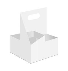 Disposable cardboard drink holder vector