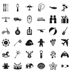 drum icons set simple style vector image