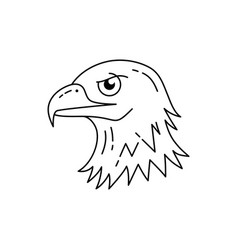 eagle head icon line art eagle icon usa eagle vector image
