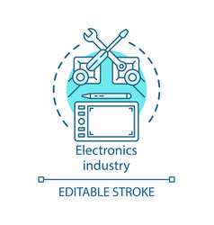 Electronics industry concept icon technical vector