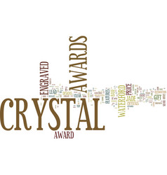 Engraved crystal awards text background word vector
