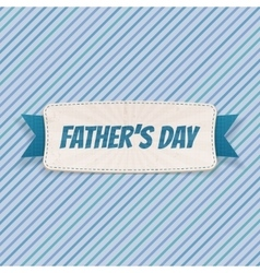 Fathers Day paper Banner with greeting Ribbon vector image