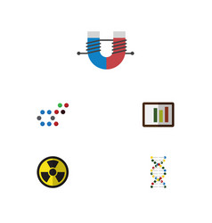 Flat icon knowledge set of diagram genome vector