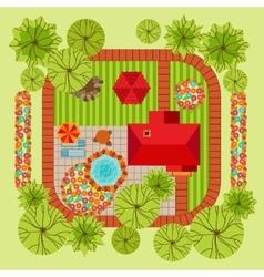 Flat style landscape design concept vector