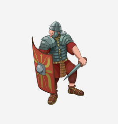 funny warrior legionary of ancient rome vector image