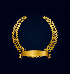 Golden emblem template for logo gold branches vector