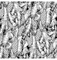 Graphic pine tree pattern vector image
