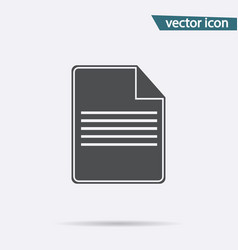 gray file icon isolated on background modern flat vector image
