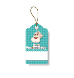 happy grandparents day shopping tag holiday sale vector image
