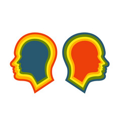 head icon for schizophrenia vector image
