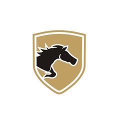 horse logo design vector image