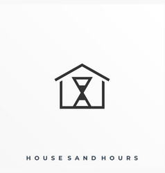 hourglass house template vector image