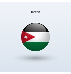 Jordan round flag vector