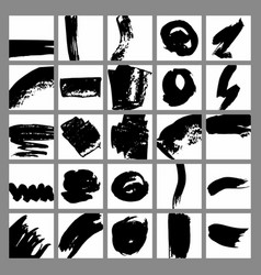 labels with brush strokes for sale printing set vector image