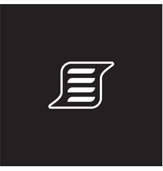 Letter s line art text paper symbol vector