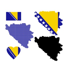 Map Bosnia vector image