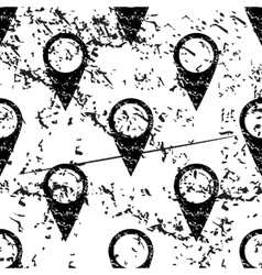 Map marker pattern grunge monochrome vector image