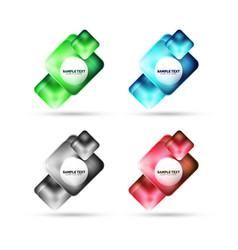 Metallic matte square banner design glass with vector