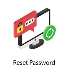Reset password vector
