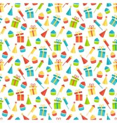 Seamless bright fun celebration festive pattern vector