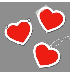 Set of heart tags vector