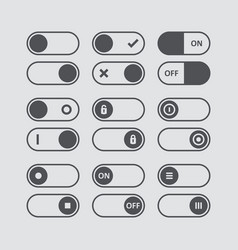 set of switch icons flat icon switch buttons on vector image vector image