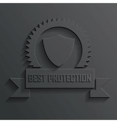 Shield and ribbon vector