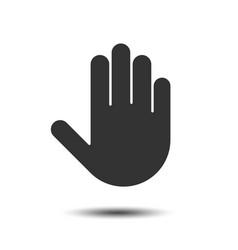 Simple hand icon vector
