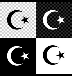 Star and crescent - symbol islam icon isolated vector