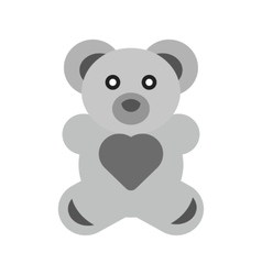 Stuffed bear vector