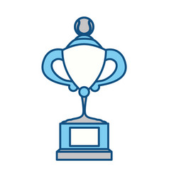 Tennis trophy cup vector