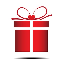 The red gift box on a white background vector image