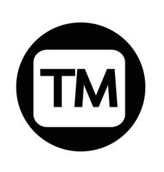 Trademark button vector