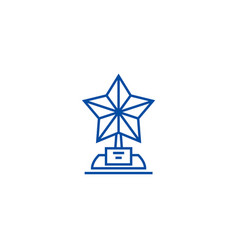 trophy star line icon concept trophy star flat vector image
