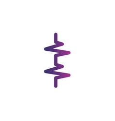 Vertical heart beat cardiogram life line icon vector