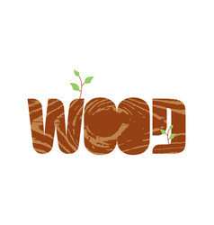 wood lettering letters wood texture nature vector image