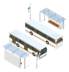 Bus and shelter vector image