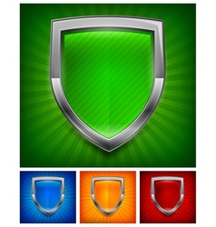 Color shields vector image vector image