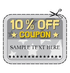 Coupon sale -ten percent discount vector image