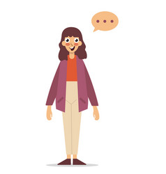 girl thinking flat style cartoon colorful vector image vector image