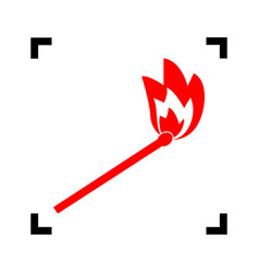 match sign red icon inside vector image