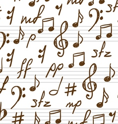 musical patterns vector image vector image