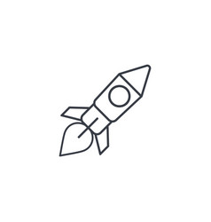 startup rocket launch thin line icon linear vector image vector image