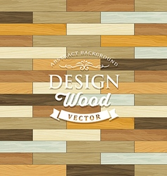 Vintage Tile wood floor striped concept vector image vector image