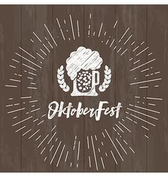 Beer festival celebration typography vector image