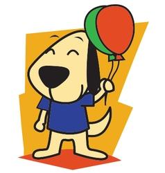 Dog and Ballon vector image