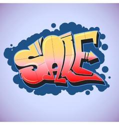 Graffiti style sale inscription urban art vector image