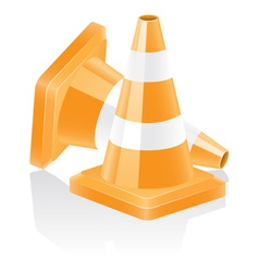 icon traffic cone vector image vector image
